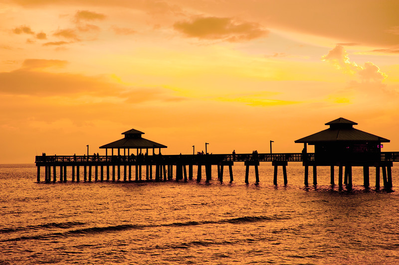 Fort Myers pier in the sunset