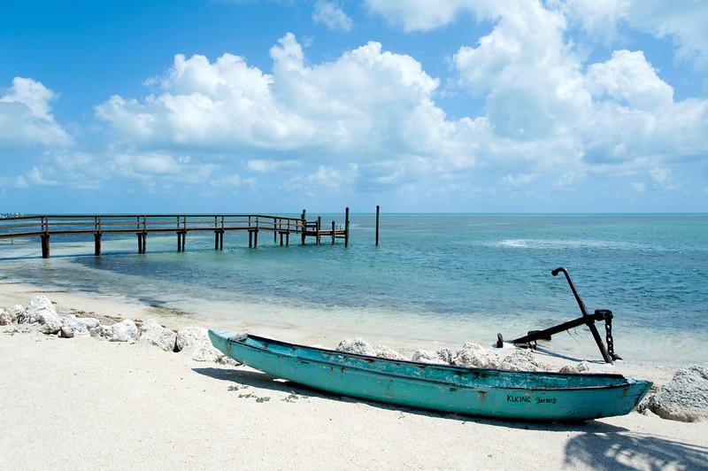 The boat ashore