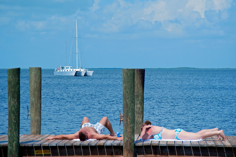 Key Largo sunbathers