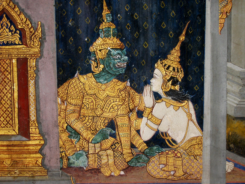 Picture in a Bangkok Palace / Temple - 2004
