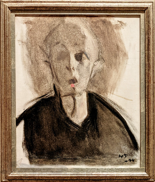 Helene Schjerfbeck - Self Portrait with a Red Dot