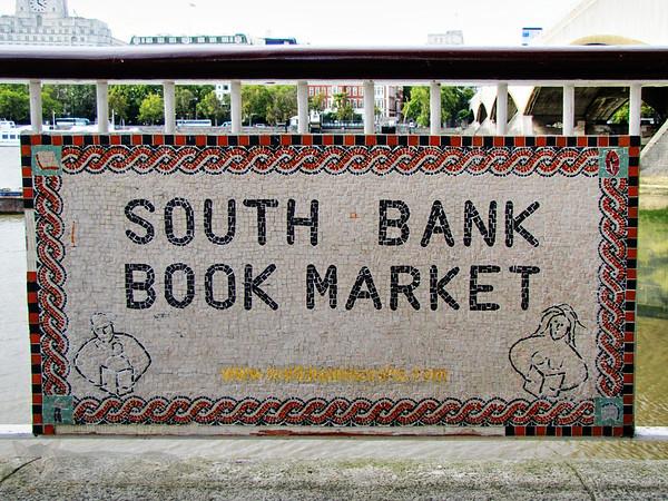 South Bank Book Market Sign