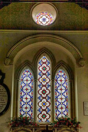 Window in St John the Baptist's Church, Clayton
