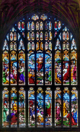 Stained Glass Window in Norwich Cathedral