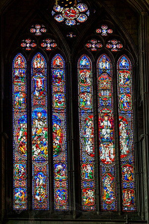 Stained Glass Window in Gloucester Cathedral