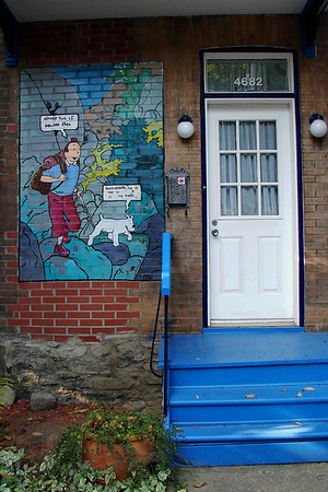 Montreal - Front Porch - Tintin Mural