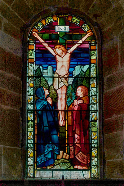 Stained Glass Window in Church of the Transfiguration, Pyecombe
