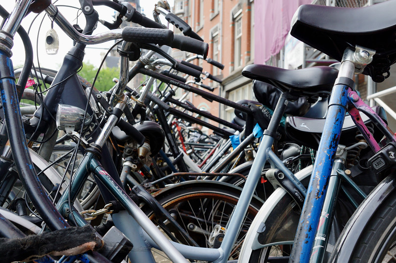 Amsterdam - Bicycles in the Street