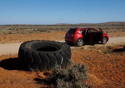 Spare Tyre in the Desert