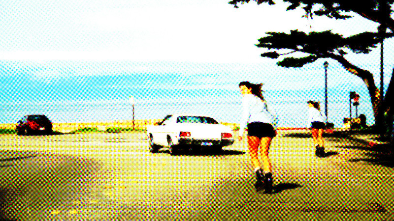 Skater and Car Doodle - Pacific Grove