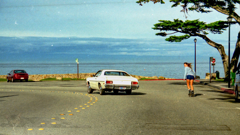 Pacific Grove - Skater and Car