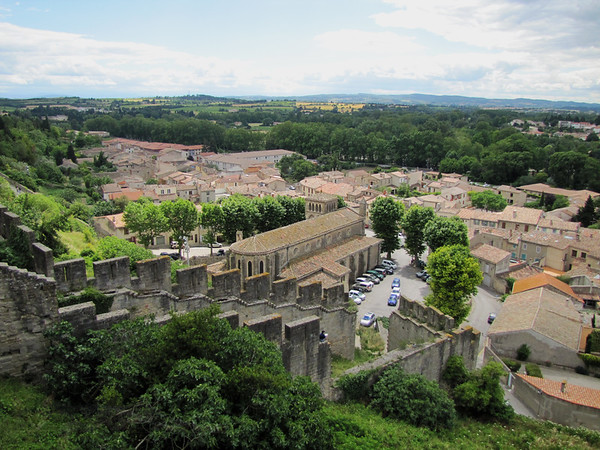 View of Church St Gimer from Carcassonne Castle
