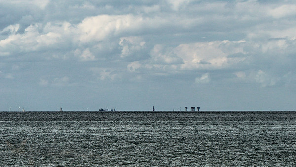 Red Sands Fort on the Horizon viewed from Whitstable