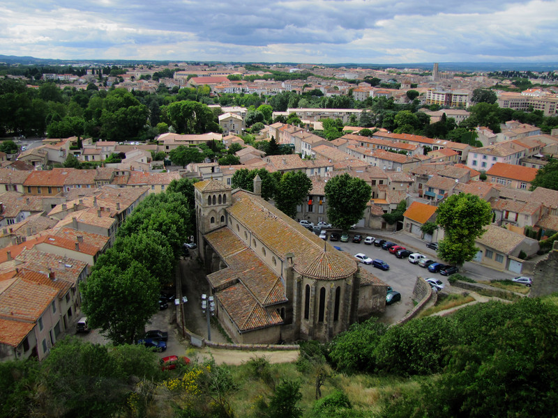 Church St Gimer from Carcassonne Castle