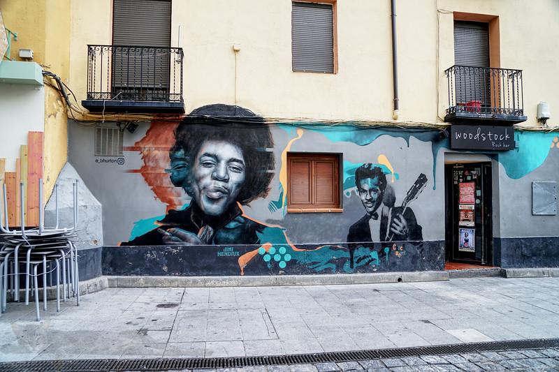 Mural in Huesca, Spain