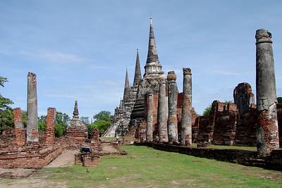 Buildings in Ayutthaya, Thailand