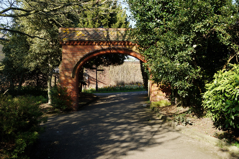 The Red Brick Arch in John Innes Park