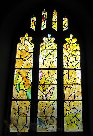 Chagall Stained Glass Window in All Saints' Church, Tudeley