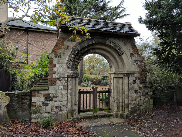 Norman Arch in St Mary's Churchyard - Merton Park