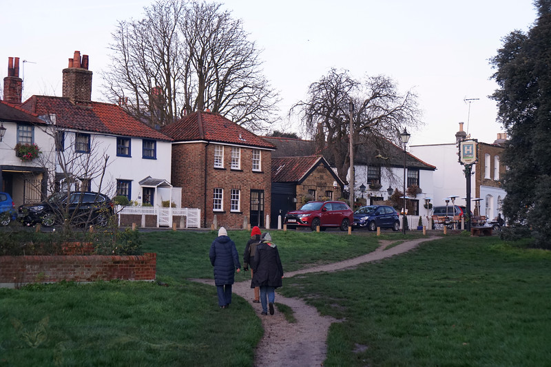 Footpath in Front of Crooked Billet