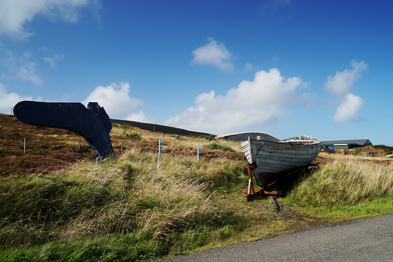 Boat and Whale Tail - Rousay