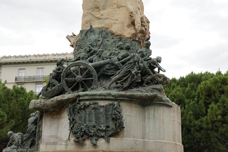 Héroes de la Patria Monument in Plaza de los Sitios - Zaragoza