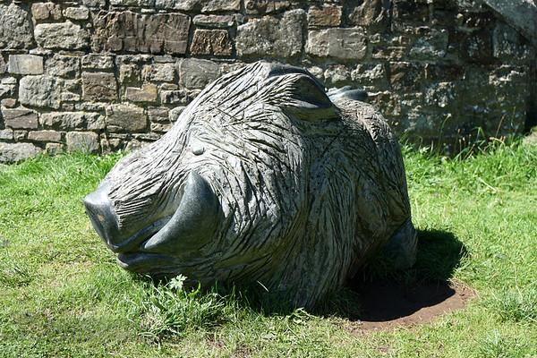 Twrch Trwyth Sculpture - St David's