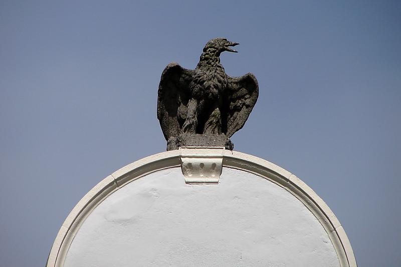 Eagle statue  atop Eagle House - Wimbledon Village Village