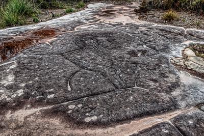 Aboriginal Carvings at Ku-ring-gai Chase National Park, Sydney