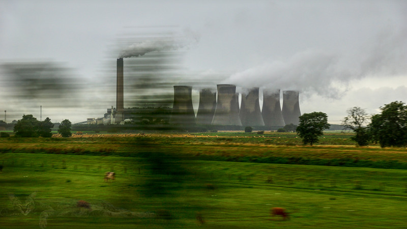 Eggborough Power Station - Train Window