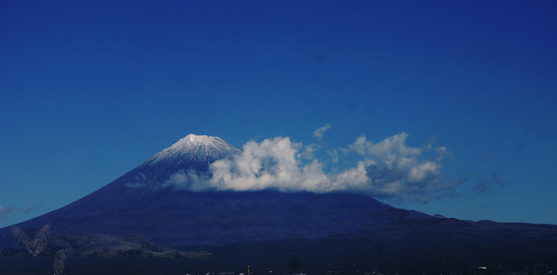 Mount Fuji from a Shinkansen