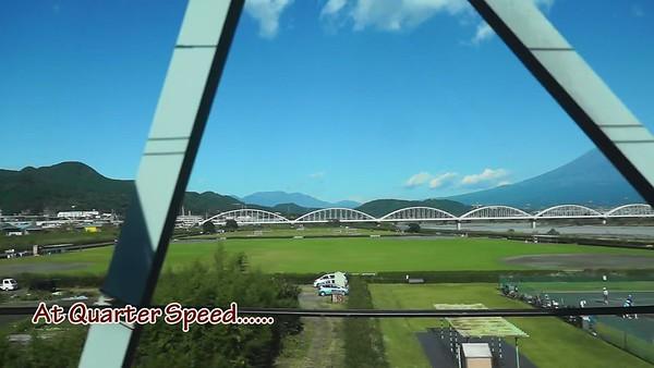 Shinkansen Passing Fuji