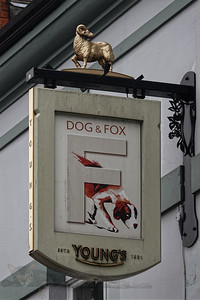 Dog and Fox Public House Sign