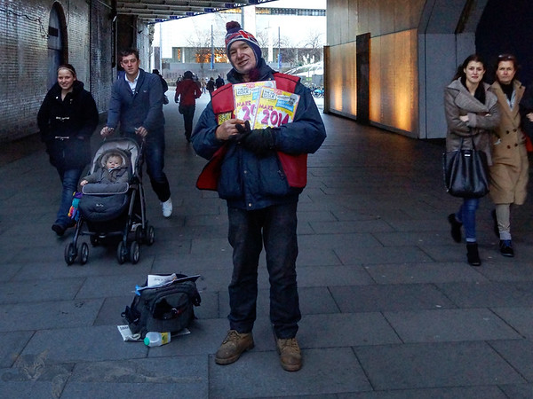 Sutton Walk - The Big Issue Seller