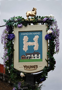 Hand in Hand Public House Sign