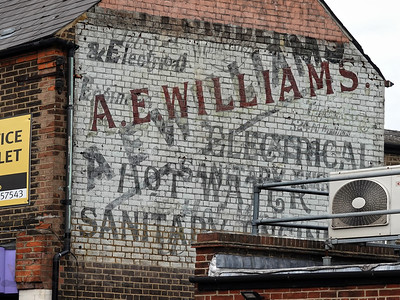 A E WILLIAMS Ghost Sign
