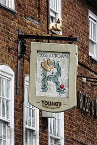 Rose and Crown Public House Sign