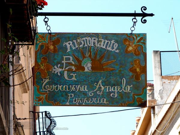 Taormina - Restaurant / Cafe Sign