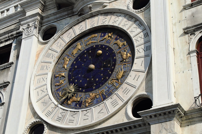 St. Mark's Clock in Piazza San Marco, Venice Italy