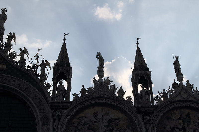 Basilica San Marco Roofline In Silhouette, Venice Italy