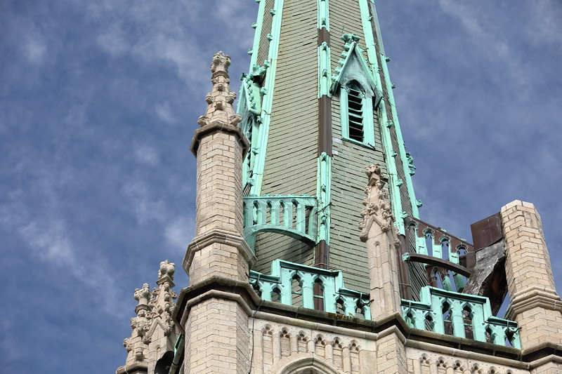 Fort Street Presbyterian Church Steeple Against Sky