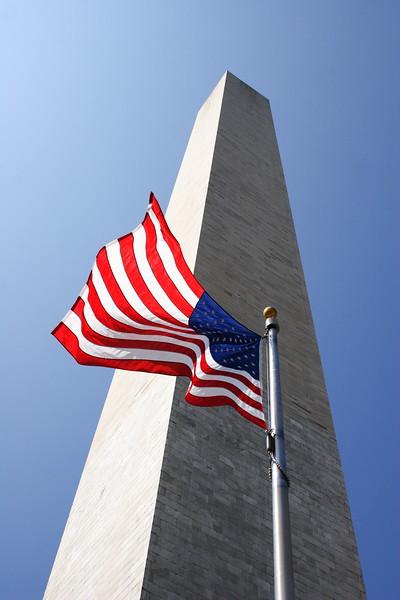 Flag at Washington Monument, Washington DC