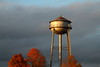 Water Tower in Fall Sunset, Statesville NC
