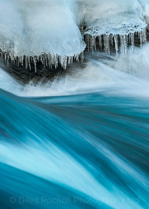 Detail of Godafoss waterfalls, Iceland. Iceland Photo Tour February 2017