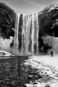 Photographing the mighty Skogafoss waterfall, Iceland