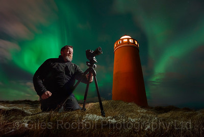 Mark Andres Jones by Keflavik lighthouse, Iceland Photo Tour February 2017