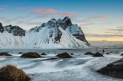 Morning light at Vestrahorn, Iceland photo tour, February 2016