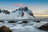 Morning light at Vestrahorn, Iceland photo tour, February 2016