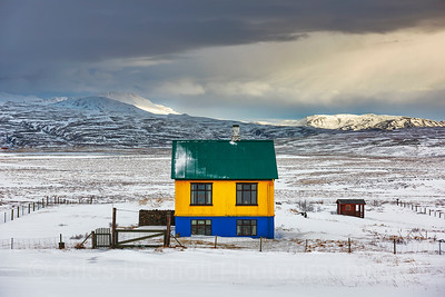 Lone house near Porufoss, Iceland Photo Tour February 2017