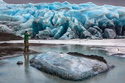 Fláajökull glacier, Iceland Photo Tour February 2017